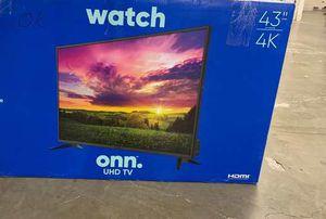 "Brand New 43"" 4K ONN TV! Open box w/ warranty KBG for Sale in Fort Worth, TX"
