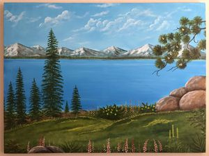 New hand made lake tahoe original oil painting for Sale in San Ramon, CA