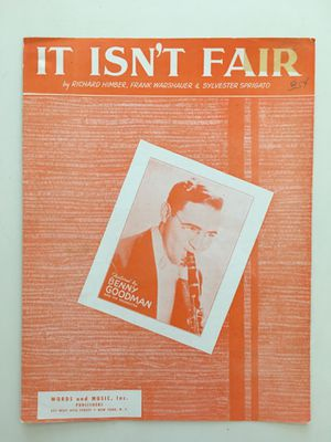 Vintage Words and Music Sheet Music 1933 It Isn't Fair by Himber, Warshauer & Sprigato for Sale in Glendale, AZ