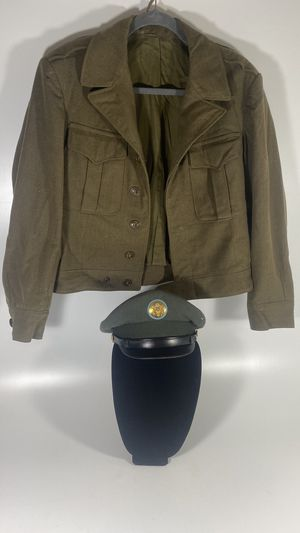 Awesome Ww1 ww2 officers cap and jacket. for Sale in Framingham, MA