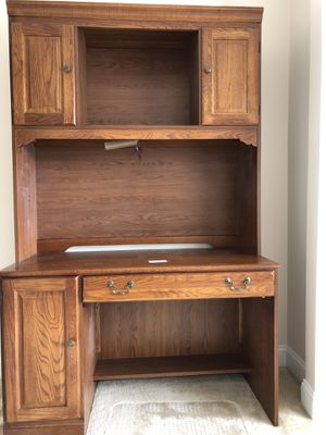Desk with hutch for Sale in Herndon, VA
