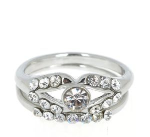 Silver Plated Crystal Rhinestone Ring size 8 for Sale in Aldie, VA