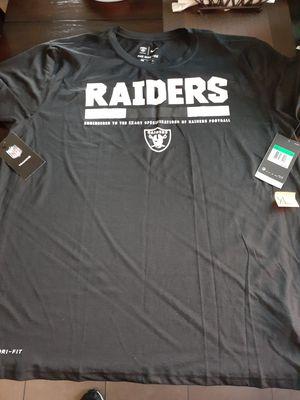 Raiders premium t shirt dri fit nike for Sale in Los Angeles, CA