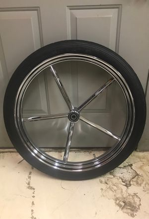 """21"""" Invader Chrome Front Wheel for Sale in LAKE MATHEWS, CA"""