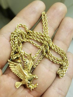 10k Rope Chain & 10k Pendant for Sale in Fresno, CA
