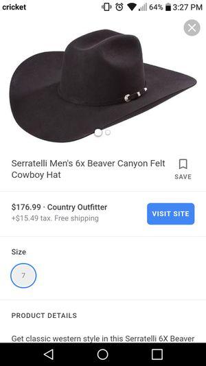 2b01e30fb Used, Cowboy hat Serratelli 6X size 7 for Sale