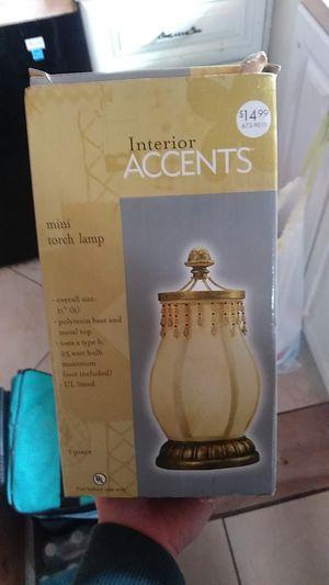 Interior accents mini torch lamp for Sale in Lake Worth, FL