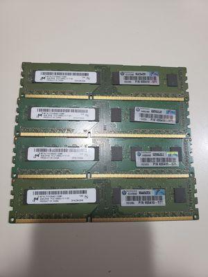 HP DDR3 RAM 4 * 4GB for Sale in Bellevue, WA
