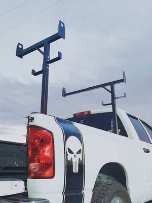 New in box side mount 400 lbs weight capacity commercial contractor pickup trucks bed universal adjustable holds 3 ladder heavy duty truck rack for Sale in West Covina, CA