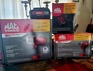 Mac Tools 20vMax Impact Set with battery and charger for Sale in Midland, TX