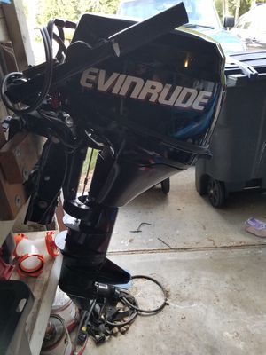 Evinrude 9.8 HP high thrust outboard motor for Sale in Lacey, WA