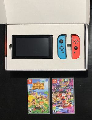 V2 Nintendo Switch with 2 Games for Sale in Charlotte, NC