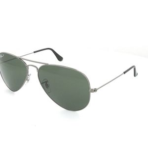 Ray-Ban RB3026 Aviator Sunglasses Gunmetal/ Green - Great Condition for Sale in Chino, CA