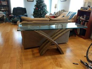 Modern Glass and Metal Table for Sale in Washington, DC