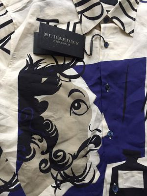 "Limited edition BURBERRY PRORSUM ""THE WRITER"" Shirt for Sale in West Palm Beach, FL"