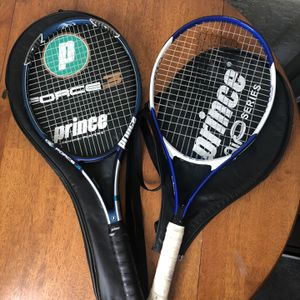 Prince TC85A And TM14B-111 Tennis Rackets for Sale in Beverly Hills, CA
