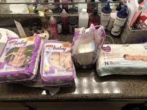 Diapers size N and 2 for Sale in Round Rock, TX