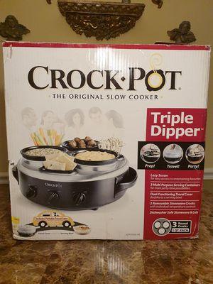 Crock Pot Slow cooker triple dipper for Sale in Houston, TX