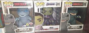 Funko Pop BIG: Godzilla 239; Hulk 478; Godzilla 239 for Sale in El Paso, TX