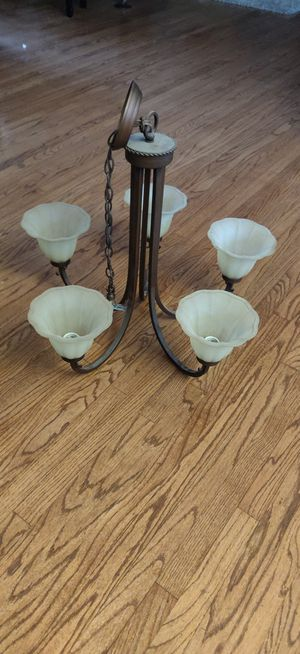 5 lights bronze wrought iron chandelier for Sale in Los Angeles, CA