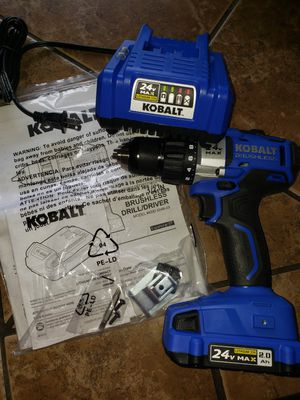 Kolbalt brushless 24v 1/2 in.drill NEW never used.I got it w/the impact which was all i needed. for Sale in Parma, OH