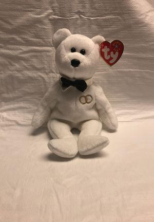 Mr. White Bear - Black Tie , TY Beanie Baby for Sale in Great Neck, NY