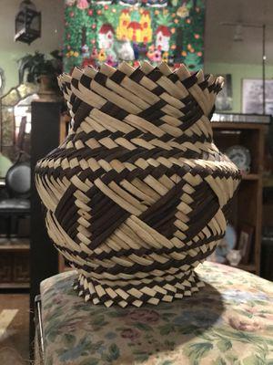 Rattan wicker boho bohemian planter pot vase for Sale in San Diego, CA