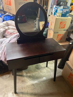 New wood vanity with stool for Sale in Rancho Cucamonga, CA