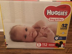 *$20* HUGGIES SNUG AND DRY DIAPERS SIZE 1 for Sale in Rosemead, CA
