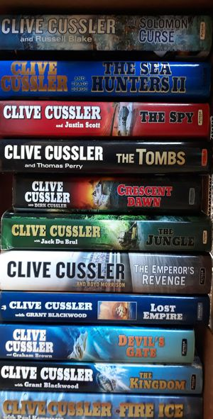 Books by Clive Cussler for Sale in Joint Base Lewis-McChord, WA