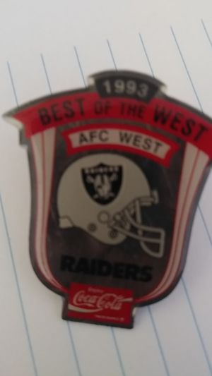 Raiders 1993 best of the West play off pin for Sale in Morton, WY