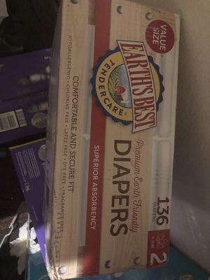 Earths best diapers size 2 (136 count) $20 firm on price for Sale in Visalia, CA