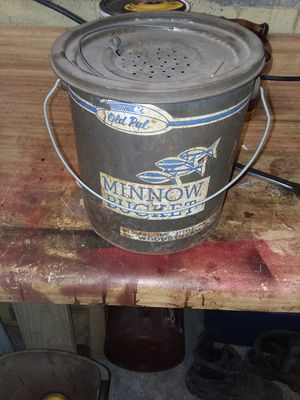 Old pal minnow bucket for Sale in Mount Vernon, OH
