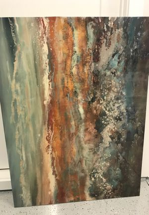 Modern Abstract Art Work, beautiful piece, (47in by 35in ) $70 for Sale in Meridian, ID