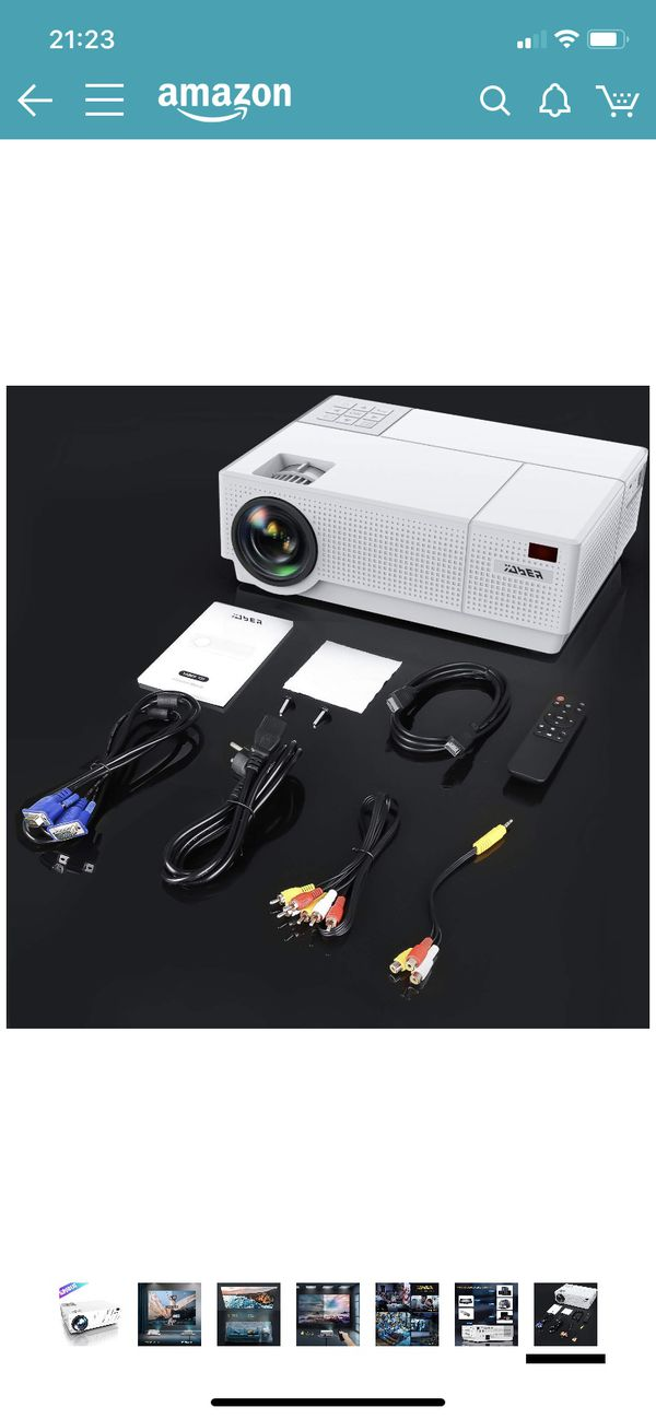 Projector, YABER Native 1920x 1080P Projector 6800 Lumens