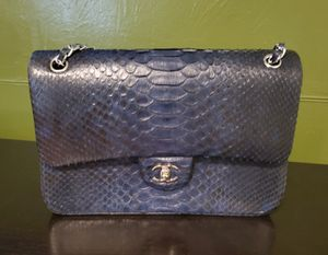 Chanel Classic Blue Python jumbo flap bag for Sale in Windsor Hills, CA