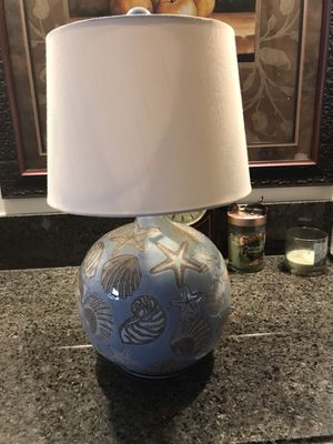 Beautiful sea shell table lamp with perfect shade for Sale in Buena Park, CA