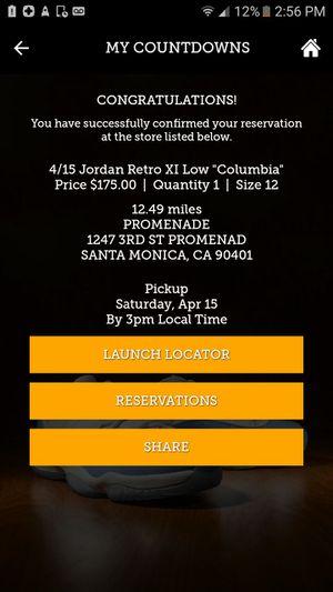 Jordan 11 low Colombia sz 12 for Sale in Santa Monica, CA