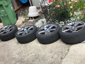 Momo Gtr Tires and Rims chromed lined steel for Sale in Hayward, CA