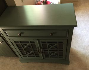 Classy solid wood side table storage decorative front for Sale in Marysville, CA