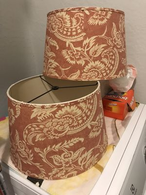 pair of lamp shades for Sale in Phoenix, AZ