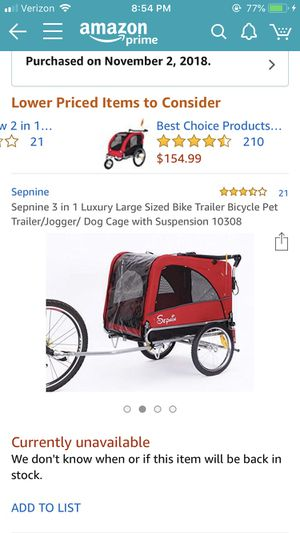 Dog Stroller/ Bike attachment for Sale in Rockville, MD