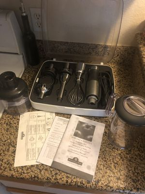 Kitchen aid hand mixer and attachments! Must go! Originally $150 best offer! for Sale in MONTE VISTA, CA