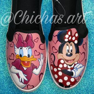 Hand Painted Shoes!! Disney, Mickey, Minnie, Pixar's Coco, Beauty and The Beast, Toy Story And More! Perfect For Christmas Or Birthdays! for Sale in Riverside, CA