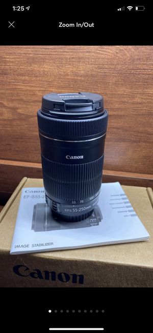 Canon EF-S 55-250mm f/4-5.6 IS STM Telephone Authentic photography-better than iPhone MacBook iPad for Sale in Los Angeles, CA