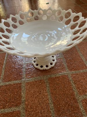 Antique Milk Glass Cake Serving Dish for Sale in Los Angeles, CA