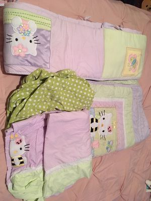 Hello Kitty crib bedding set for Sale in Houston, TX