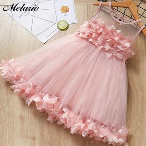 Melario Girls Dresses New Sweet Princess Dress Baby Kids Girls Clothing Wedding Party Dresses Children Clothing Pink Applique for Sale in Orlando, FL