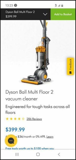 DysonBall Multifloor II 2 Upright VacuumCleaner UP19 New in Open Box Yellow Nickel Retails $399 for Sale in West Hollywood, CA