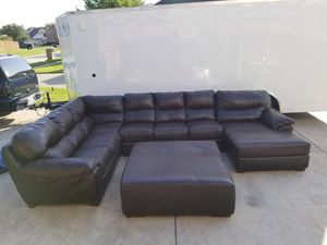 Xl sofa sectional and ottoman for Sale in Mansfield, TX